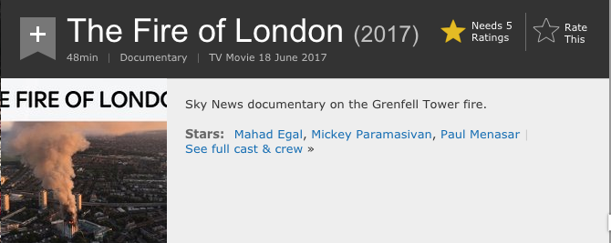 Grenfell Tower Documentary